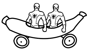 spiderman and banana car coloring book coloring pages kids fun art