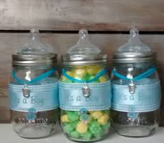 Baby Shower Centerpieces For Boy by Baby Shower Favor Mason Jars Blue Baby Bottle Baby Shower