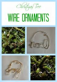 tree wire word ornaments