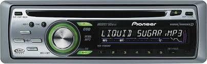 pioneer deh p3800mp cd receiver with mp3 wma playback at
