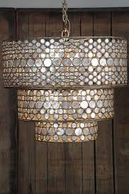 Gold Capiz Chandelier Stop It I Need This In My Master Bedroom Gold Capiz Chandelier
