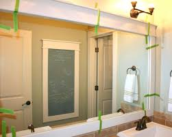 showy step how to frame a bathroom mirror diy to stunning framed large size of masterly step check placement then tape how to frame a mirror in bathroom