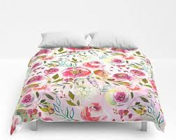 Teen Floral Bedding Floral Duvet Cover Etsy
