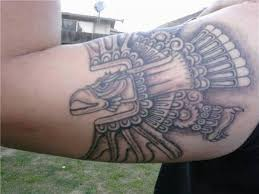 black ink aztec eagle tattoo for men biceps goluputtar com