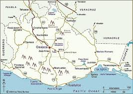 map of oaxaca mexico link to clickable map of oaxaca state mexico mexico
