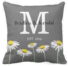 Sofa Cushion Cover Replacement by Sofa Cushions Cover Square Contemporary Summer Daisy Monogram