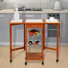 folding kitchen island cart other brookstone origami folding kitchen island cart