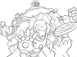 amazing marvel coloring pages 61 with additional line drawings