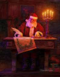index of pic oil painting styles on canvas for kids santa claus