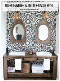 modern farmhouse bathroom remodel reveal my life from home