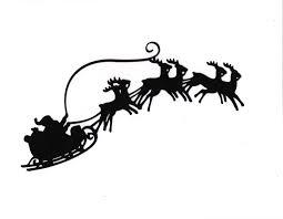 silhouette clipart santa pencil and in color silhouette clipart