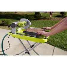 Ryobi 5 Portable Flooring Saw by Ryobi 7 Inch Overhead Wet Tile Saw Amazon Com