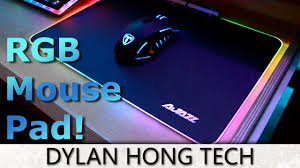 light up gaming mouse pad rgb led mouse pad ajazz gaming mouse pad review 2017 youtube