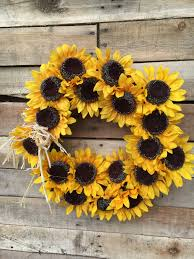 sunflower wreath wreath fall wreath sunflower wreath fall sunflower wreath door
