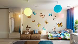 butterfly theme bedroom interior design ideas