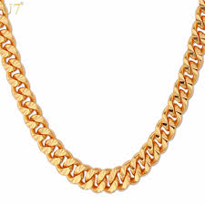 necklace choker wholesale images Curb chain necklace hollow miami cuban link chain for jpg