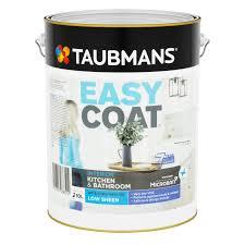 taubmans easycoat kitchen u0026 bathroom paint 2l white bunnings
