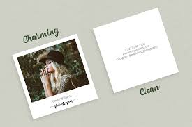Mini Resume Business Card Square Polaroid Photographer Business C Design Bundles