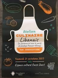 affiche atelier cuisine jumelage ploemeur ehmej octobre 2017