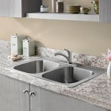 Double Stainless Steel Kitchen Sink by Colony 33x22 Double Bowl Stainless Steel Kitchen Sink American