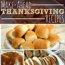 make ahead thanksgiving recipes the busy budgeter