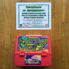 1992 tmnt canadian thermos red lunch box signed peter laird