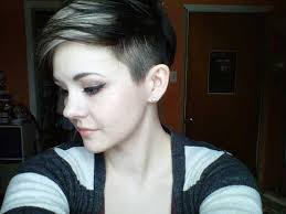 very short pixie hairstyle with saved sides pixie cut with shaved sides hair color ideas and styles for 2018