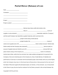 waiver of lien template partial waiver release lien form 791x1024 png