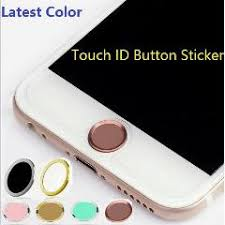 100pcs lot latest color touch id aluminum home button sticker for