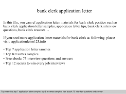 sample application letter for bank clerk job mediafoxstudio com