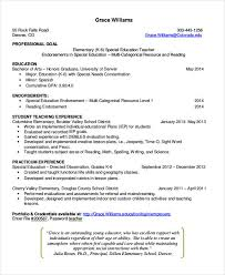 Model Resume For Teacher Job by Teacher Resumes 26 Free Word Pdf Documents Download Free