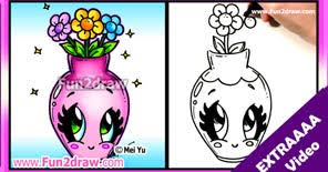 Draw A Flower Vase Learn To Draw Cartoons Fun2draw Extraaaa Videos