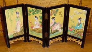 Chinese Room Dividers by Quality Miniature Chinese Room Divider Signed 6 3 8