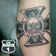 iron cross skull tat by 2face tattoo deviantart com on deviantart
