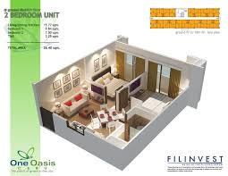 2 bedroom condo floor plans one oasis cebu filinvest