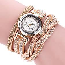 bracelet luxury crystal images Hunputa women luxury crystal women gold bracelet quartz wristwatch jpg