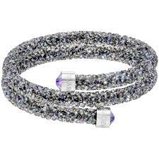 bangle bracelet swarovski images Swarovski purple crystal dust double bangle bracelet jpg