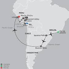Peru South America Map by Peru South America Tours Chile Argentina Galapagos Brazil
