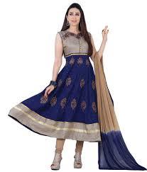 purple blue cotton unstitched dress material buy purple blue