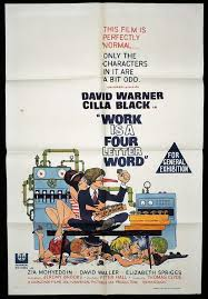work is a four letter word australian one sheet movie poster cilla