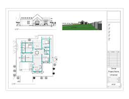 1000 square feet 3 bedroom single floor home design with 3d