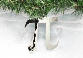 pi christmas tree ornament math symbol pie geek science