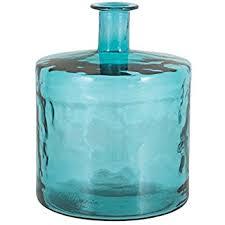 Turquoise Glass Vase Amazon Com Mud Pie 4735006l Nest Large Recycled Spanish Glass