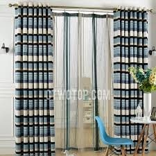 Brown And White Striped Curtains Blackout Navy And White Striped Curtains
