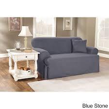 Sure Fit Cotton Duck T Cushion Sofa Slipcover amazon com sure fit duck solid t cushion sofa slipcover