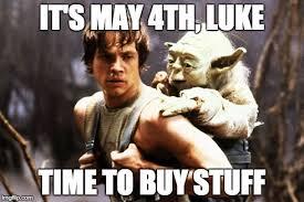 Star Wars Day Meme - 5 things to buy for star wars day geek crusade