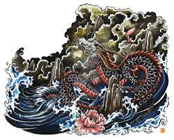 chinese dragon tattoo design by kaos nest on deviantart
