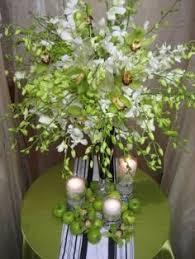 Apple Centerpiece Ideas by Dr Delphinium Centerpiece Orchids Hydrangea Green Apples
