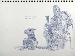 soldiers in fur coats protectors partners and patriots in war