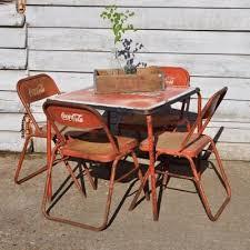 coca cola table and chairs vintage coca cola table and 4 chairs via home barn 500 00 coca